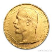 Zlatá mince monacký stofrank Albert II.