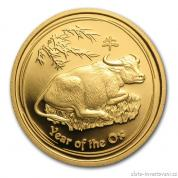Investiční zlatá mince rok Buvola 2009-lunární série II