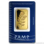 Investiční zlatá cihla Růže-PAMP Švýcarsko