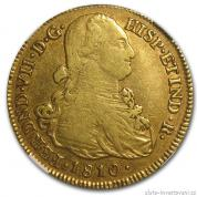 Zlatá mince Osm eskudos-Kolumbie