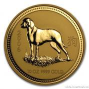 Investiční zlatá mince rok Psa 2006-lunární série I.