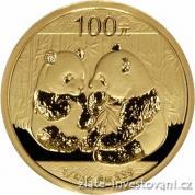 Investiční zlatá mince Panda 2009