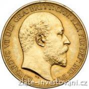 Zlatá mince britská Dvoulibra-Edward VII. 1902