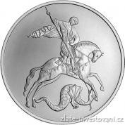 Stříbrná mince sv. Jiří-2010
