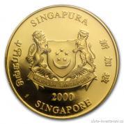 Investiční zlatý set Singapůr-Lev 1991
