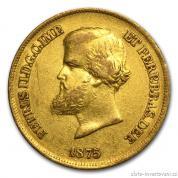 Zlatá mince Brazílie-Král Pedro II. 1851-1889