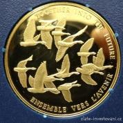 Zlatá mince Letící husy 1978-Kanada