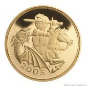 Investiční zlatá mince britský Sovereign-Alžběta II. 2005