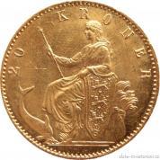 Zlatá mince dánská dvacetikoruna Christian IX.