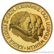 Zlatá mince Rudolf II.-500 šilingů 1993 proof