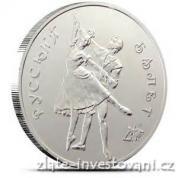 Stříbrná mince Ruský balet 1993