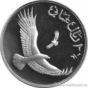 Stříbrná mince Omán 1987- Orel
