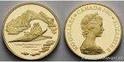 Zlatá mince Eskymák -Kanada 1980 proof