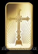 Investiční zlatá cihla  románský kříž-PAMP