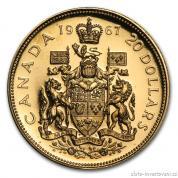 Investiční zlatá mince 100 let Konfederace-Kanada 1967
